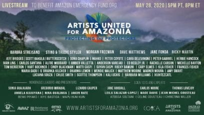 Artists For Amazonia Livestream   Protecting the Protectors
