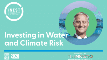 INVESTING IN WATER AND CLIMATE RISK