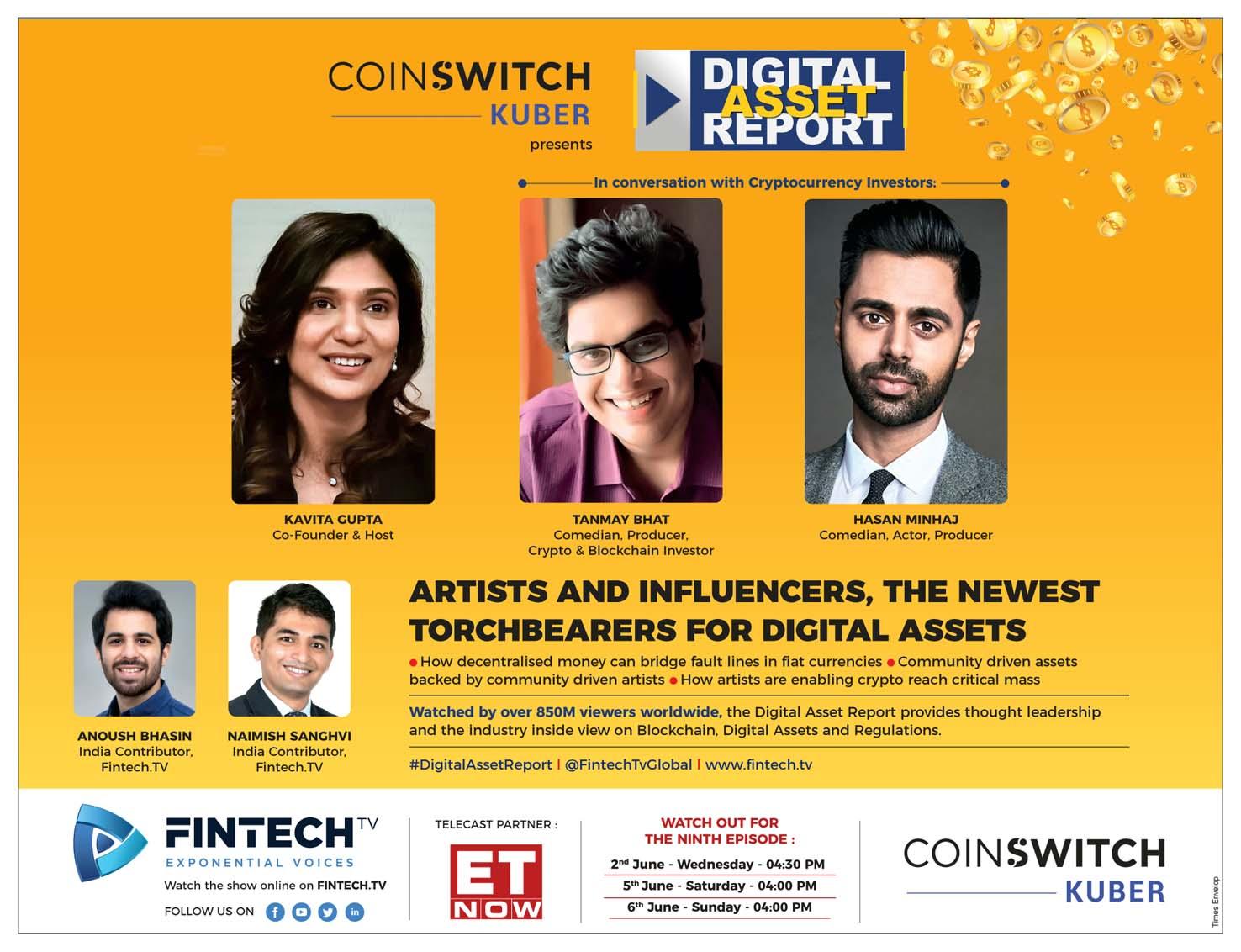 ET NOW - Digital Assets with Hasan Minhaj & Tanmay Baht