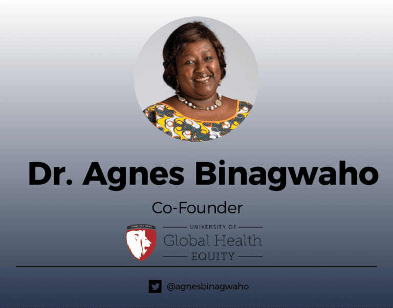 Dr. Agnes Binagwaho (banner)